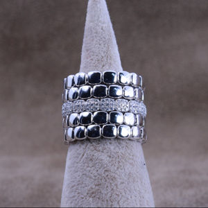 0.8 ct.tw 5 Eternity Band Ring-Brilliant Cut Deco